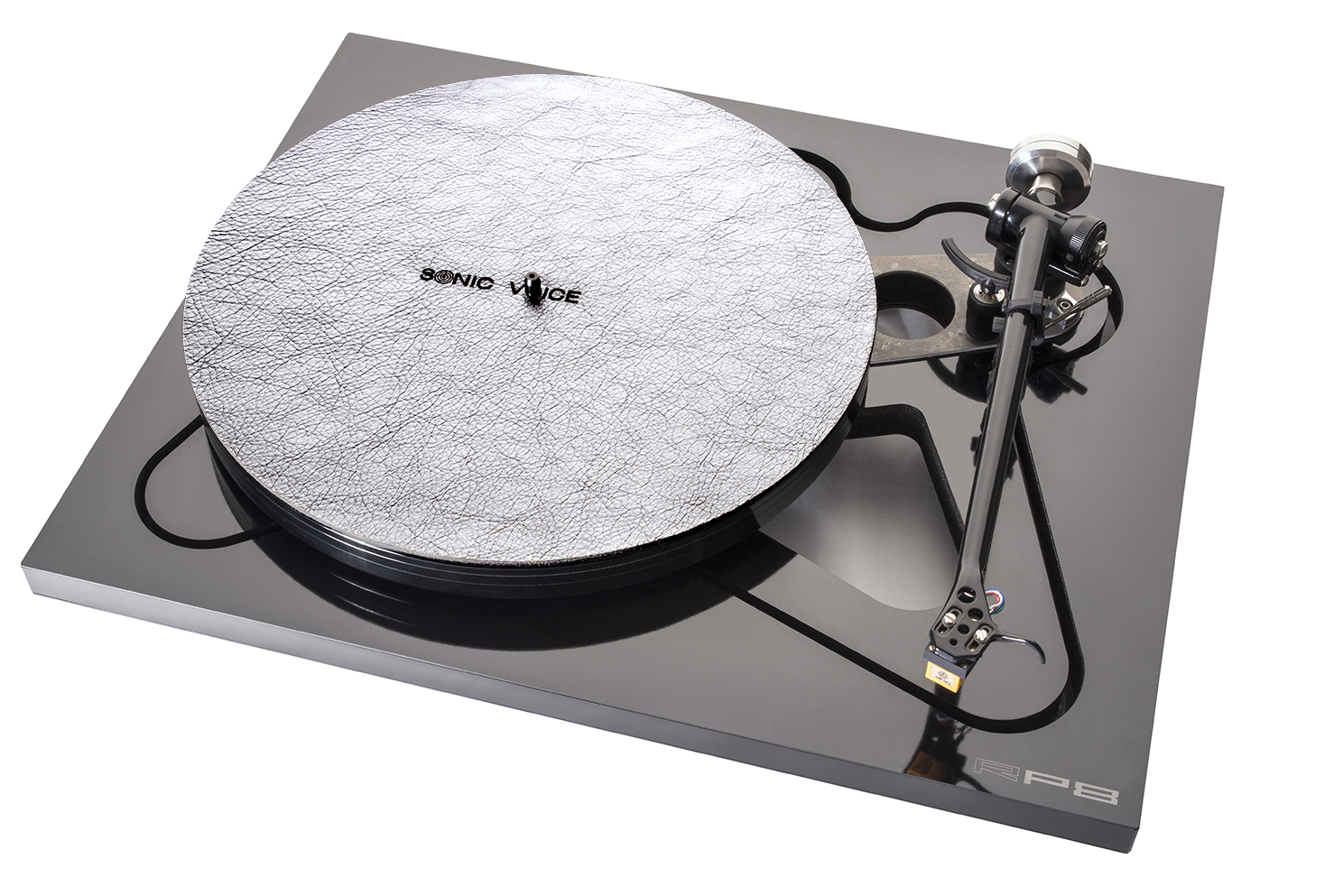 Turntable Mat Special Colors silver mit Filzunterlage