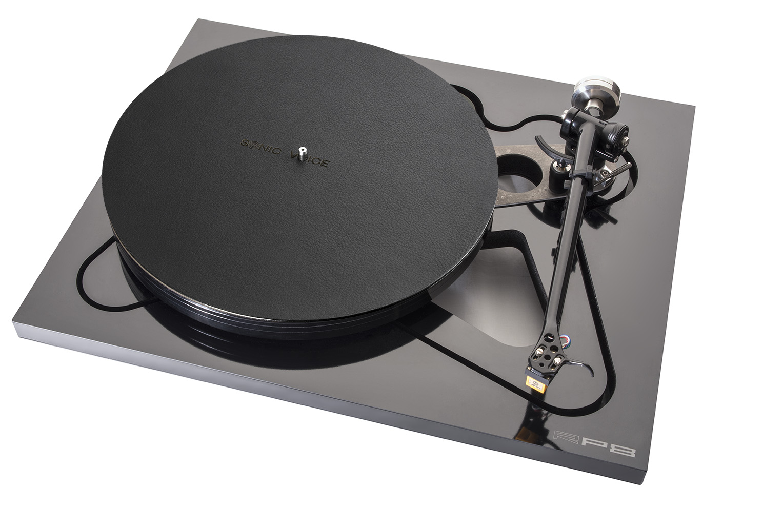 Turntable Mat Wood black